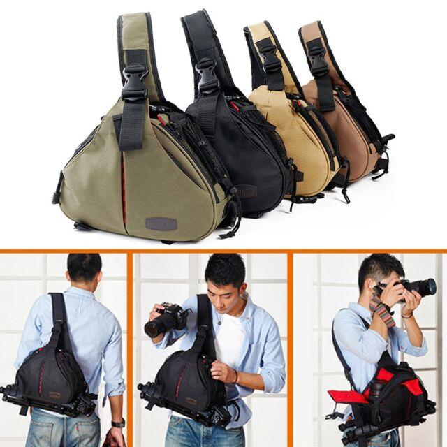 DSLR SLR Digital Sling Camera Case Shoulder Bag Backpack for Canon Nikon Sony