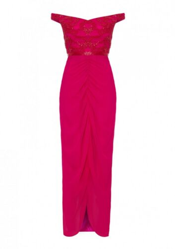 Virgos 8 Lounge Party Uk Cocktail Maxi Beaded Dress 6 Wedding rHWzqFTrdO