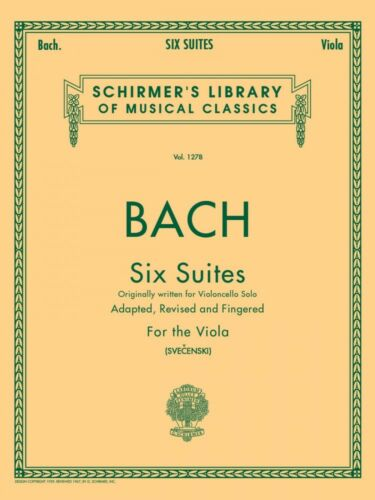 Bach 6 Suites Viola Solo String Solo NEW 050258440