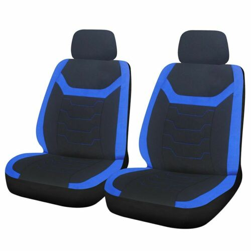 Blue Black Look Pair Front Car Seat Covers Vauxhall Combo Tour 07-11