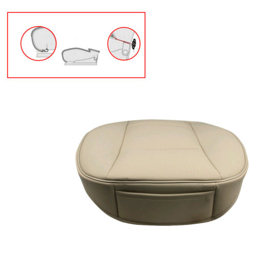 Car Front Seat Cover Breathable PU leather Deluxe Seat Cushion Chair Accessories