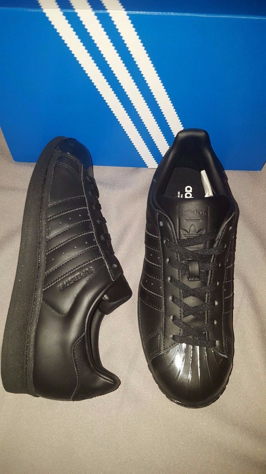 adidas superstar glänzend die us w schwarz bb0684 womens us die - 8,5 neue mit box c9fc0d