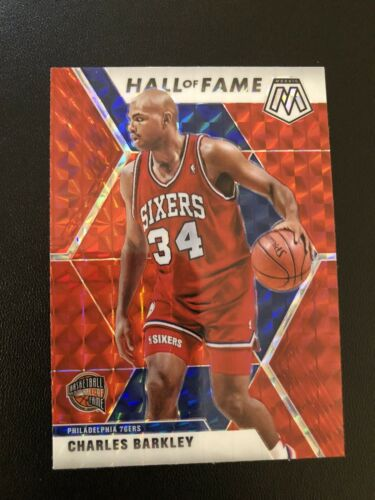 "Charles Barkley ""Hall Of Fame"" ""Red Prizm"" 2019-20 Mosaic Basketball Card"