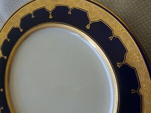 Antique-DAVIS-COLLAMORE-NEW-YORK-CITY-GOLD-BLUE-PLATE-MINTON-039-S-ENGLAND-1920s
