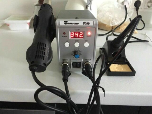 220V 110V QUICK 857DW Adjustable Hot Air Heat Gun SMD Soldering Rework Station