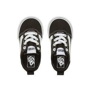 VANS-Kids-Ward-Slip-on-Old-Skool-Shoes-Canvas-Black-White-Infant-Low-Top