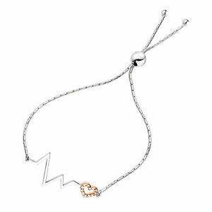 Bolo Style Tennis Bracelet for Women Cubic Zirconia CZ Bracelet Rose Gold and Silver Plated Brass Adjustable