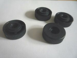 Packs-of-5-10-or-20-M6-BLACK-NYLON-THUMB-NUTS-Without-Collar-FINE-KNURLED