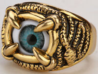 Eyeball Stretch Ring Halloween Gothic Jewelry Gifts For Women Girls Rd25 Gold