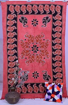 Hippie Indian Bohemian Elephant Mandala Tapestry Wall Hanging Dorm Bedspread Art
