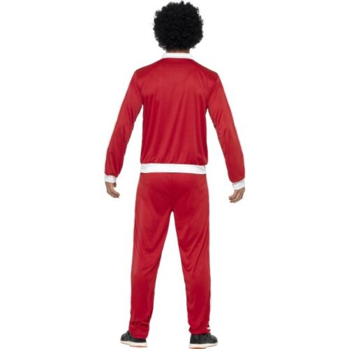Men/'s años 80 Retro Trackie Fancy Dress Costume Cáscara Suit Scouser 118 118 Stag Diversión