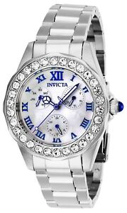Invicta-Women-039-s-Angel-28463-38mm-White-Dial-Stainless-Steel-Watch