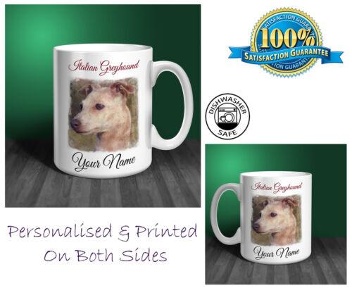 Italian Greyhound Personalised Ceramic Mug Perfect Gift. D291
