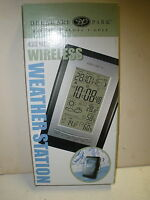 Delaware Park Digital Wireless Weather Station 433mhz Cable Free