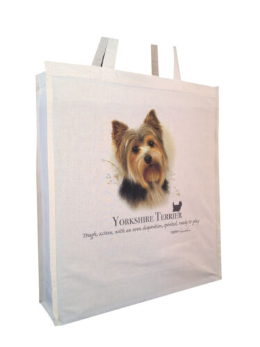 Yorkshire Terrier b Cotton Shopping Bag with Gusset Xtra Space Perfect Gift