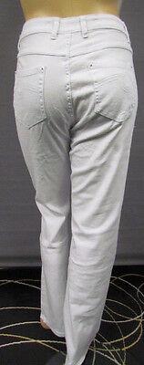 FäHig Neu Damen Denim Classic Jeans Hose Weiß Stretch Gerades Bein Langgröße 46,48,50 Belebende Durchblutung Und Schmerzen Stoppen
