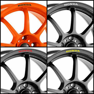 X HONDA Rims Alloy Wheels Curved Decals Stickers Civic Accord - Honda accord decals stickers