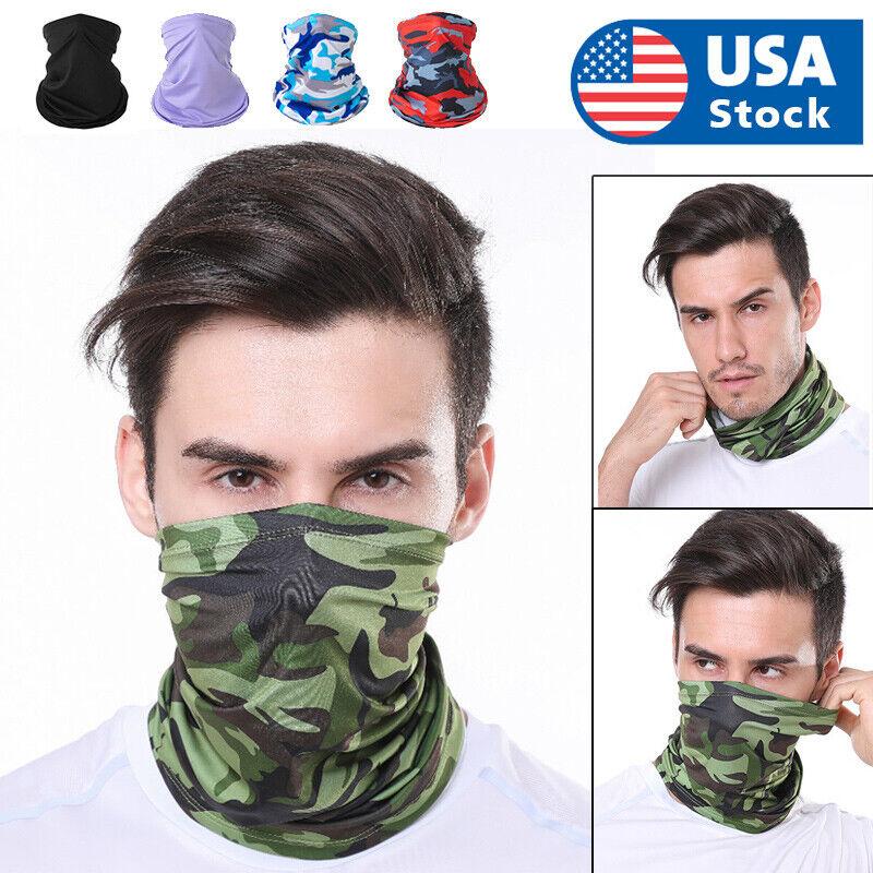 USA Stock, Multi-Use Face Mask Head Wrap Neck Gaiter Sweatba