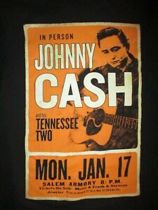 JOHNNY-CASH-SALEM-ARMORY-CONCERT-POSTER-T-SHIRT-Retro-Tennessee-Two-Adult-SMALL