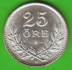 Sweden-25-Oresund-1938-Silver-Almost-Bu-Good-nswleipzig