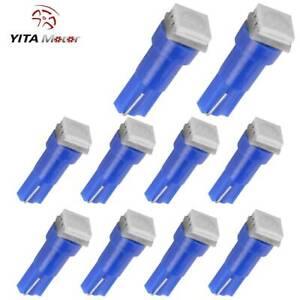 YITAMOTOR 10PCS Blue T5 5050 SMD Wedge Car LED Dome Map Light Bulb 2721 74 18 37