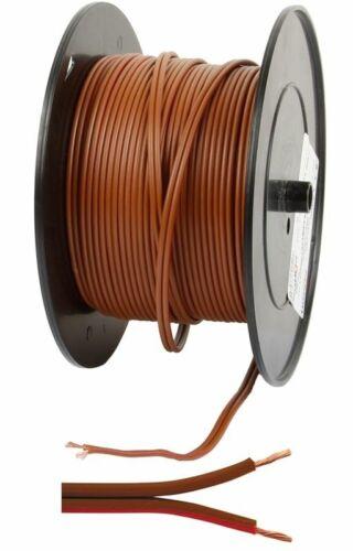Câble haut-parleur Câble autokabel flkz 2x1 50 mmâ² ROUGE MARRON au mètre