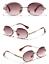 thumbnail 11 - Mens-Womens-Retro-Light-Weight-Vintage-Rimless-Oval-Diamond-Cut-Sunglasses