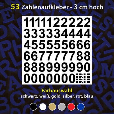 Zahlen je 24 Stück Zeichen 1 cm hoch  Schwarz Sticker Klebezahlen