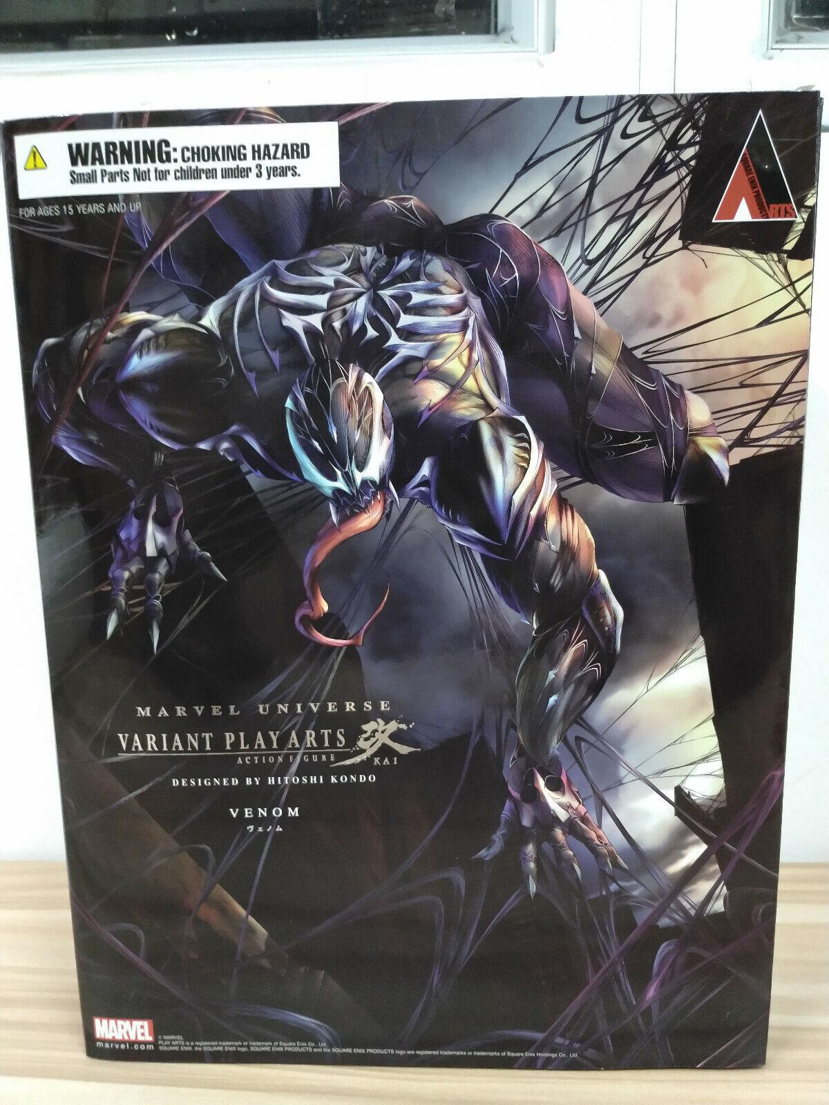 Play Arts Kai Marvel Universe  Venom Action Figure Square Enix  Authentic