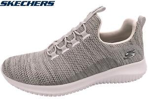 Details zu Skechers Damen Sneaker Ultra Flex Natural Sportschuhe Creme Grau 12840 NAT