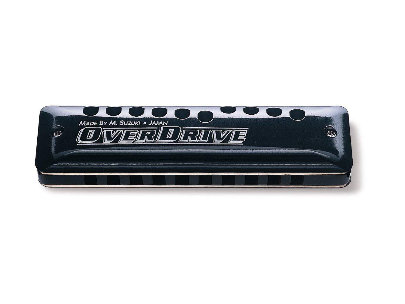 Suzuki MR-300-E Overdrive Deluxe Bendable 10-Hole Diatonic Harmonica, Key of E