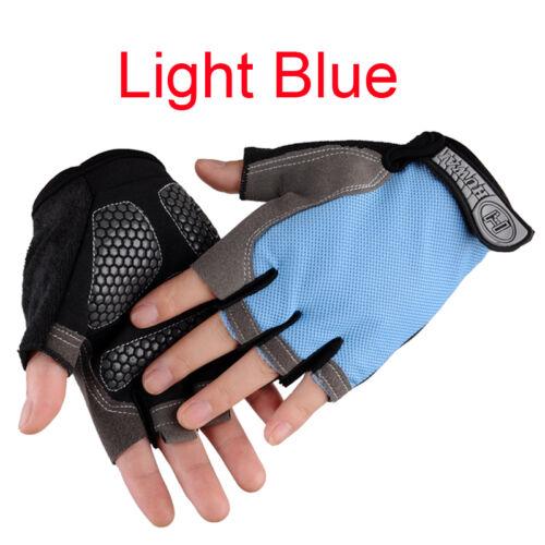 MTB Men Women Riding Racing Mountain Bike Cycling Half Finger Gloves Gel Padded