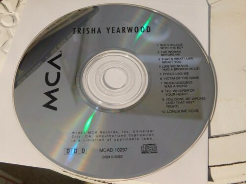 1 of 1 - Trisha Yearwood by Trisha Yearwood (CD, Jul-1991, MCA)Disc Only