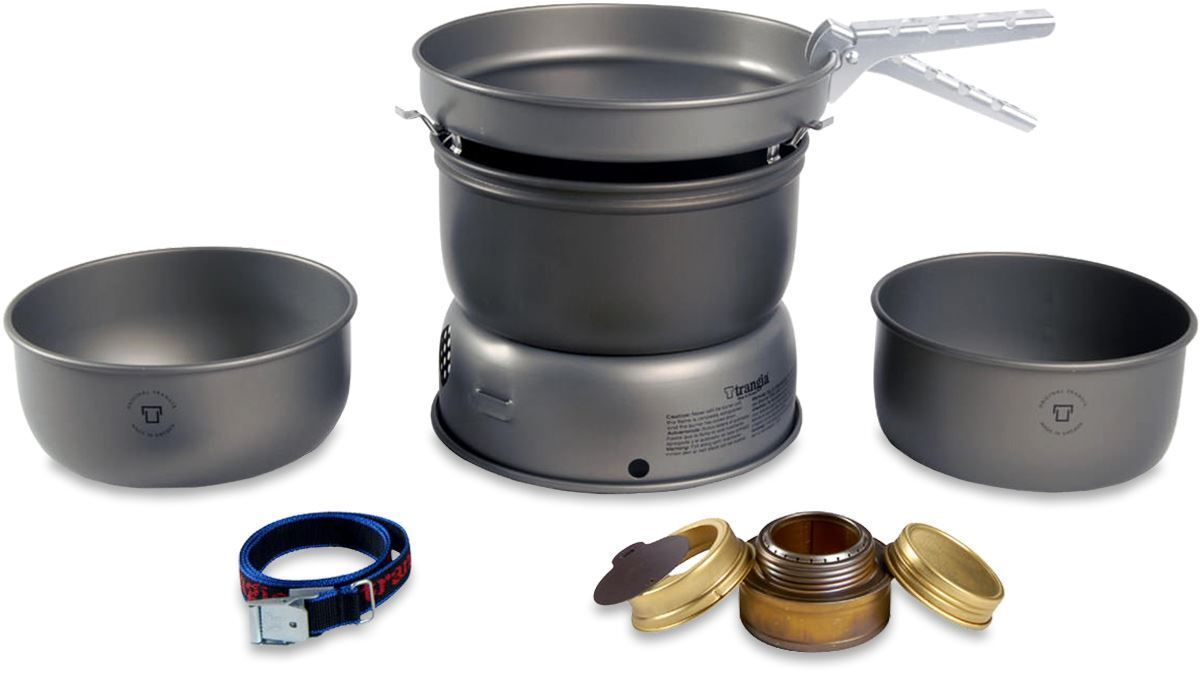 TRANGIA 25-1 HA ULTRA LIGHT COOKING SYSTEM STORM PROOF COOK SET STOVE CAMPING