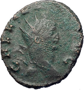 GALLIENUS-son-of-Valerian-I-267AD-Authentic-Ancient-Roman-Coin-Antelope-i73490