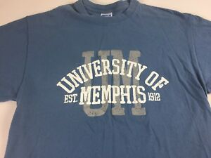 Memphis-Tigers-T-Shirt-Womens-SZ-M-L-Blue-Gray-University-Student-Alumni-Grad