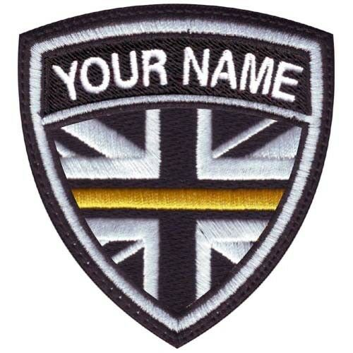 Thin Yellow Line UK Personalized Crest Embroidered Patch