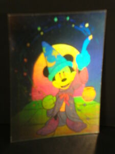 Disney-91-Collector-Series-1-034-Double-sided-Hologram-034-Mickey-Mouse-Sorcerer-039-s