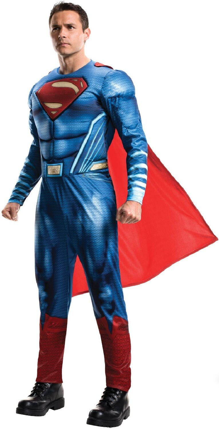 Justice League - Superman Hero TV Book Film Fancy Dress Costume Outfit For Men