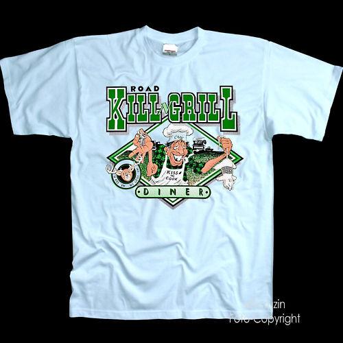 *3170  Feinschmecker Grillstube Imbiss Auto Grill Gourmet T-Shirt Fun