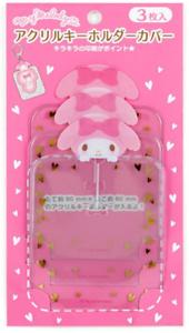Nuevo Japón Sanrio My Melody Conejo Llavero Cubierta de protección Rosa 3 Piezas Mascota