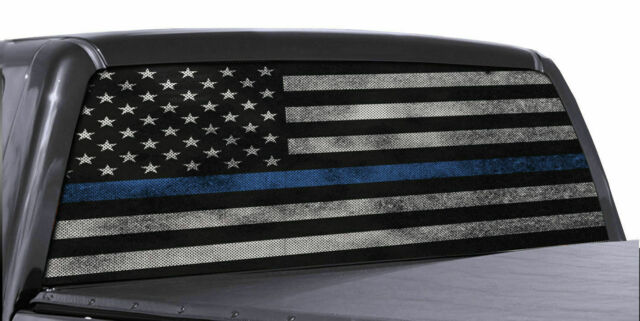Wisconsin WI State Flag Thin Blue Line Police Sticker Decal #288 Made in USA