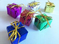 20 Mini-Geschenke bunt Weihnachtsbaum Christbaum Schmuck Adventskranz Dekoration