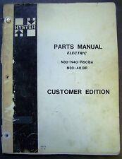 Hyster Electric N30 N40 N50ba N30 40br Forklift Lift Truck Dealer Parts Catalog