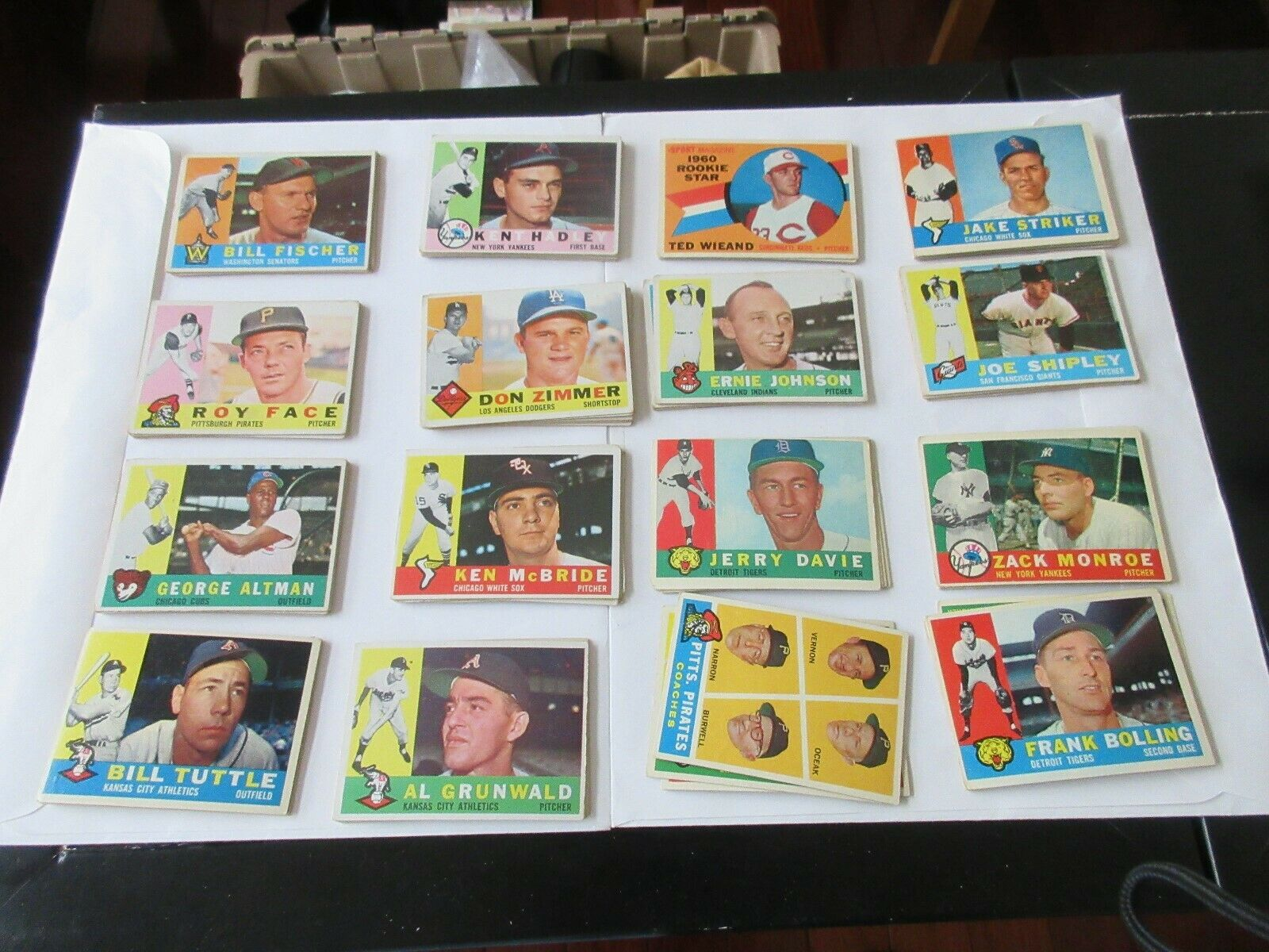 1960 , Topps , Baseball Cards , Lot of 96 , Good Condit