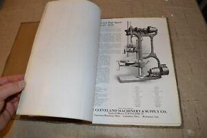 Early-Cleveland-Machinery-amp-Supply-Machine-Tools-Catalog-Belt-Driven