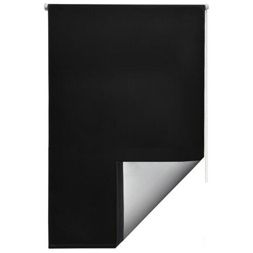 Sol Royal T42 Thermal Roller Window Blind Blackout Darken 90x210cm Black