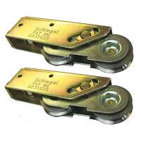 Pair of 32mm Schlegel Tandem Sliding Patio Door Roller Wheels Aluminium UPVC