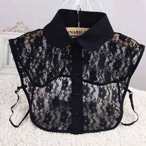 Lady-Sexy-Detachable-Fake-Half-Shirt-Blouse-False-Lace-Lapel-Hollow-Collar-HC