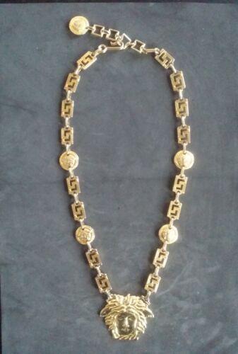 "Gianni Versace Gold Chain Medusa Vintage RARE 32"""